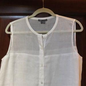 Vince linen (ramie) white tunic